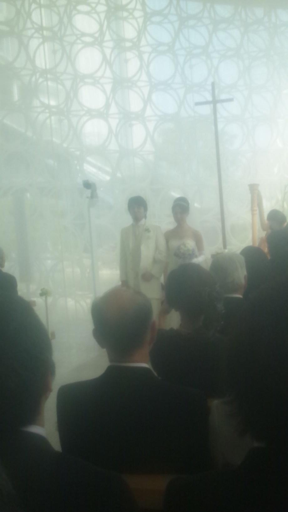 友人の結婚式でした