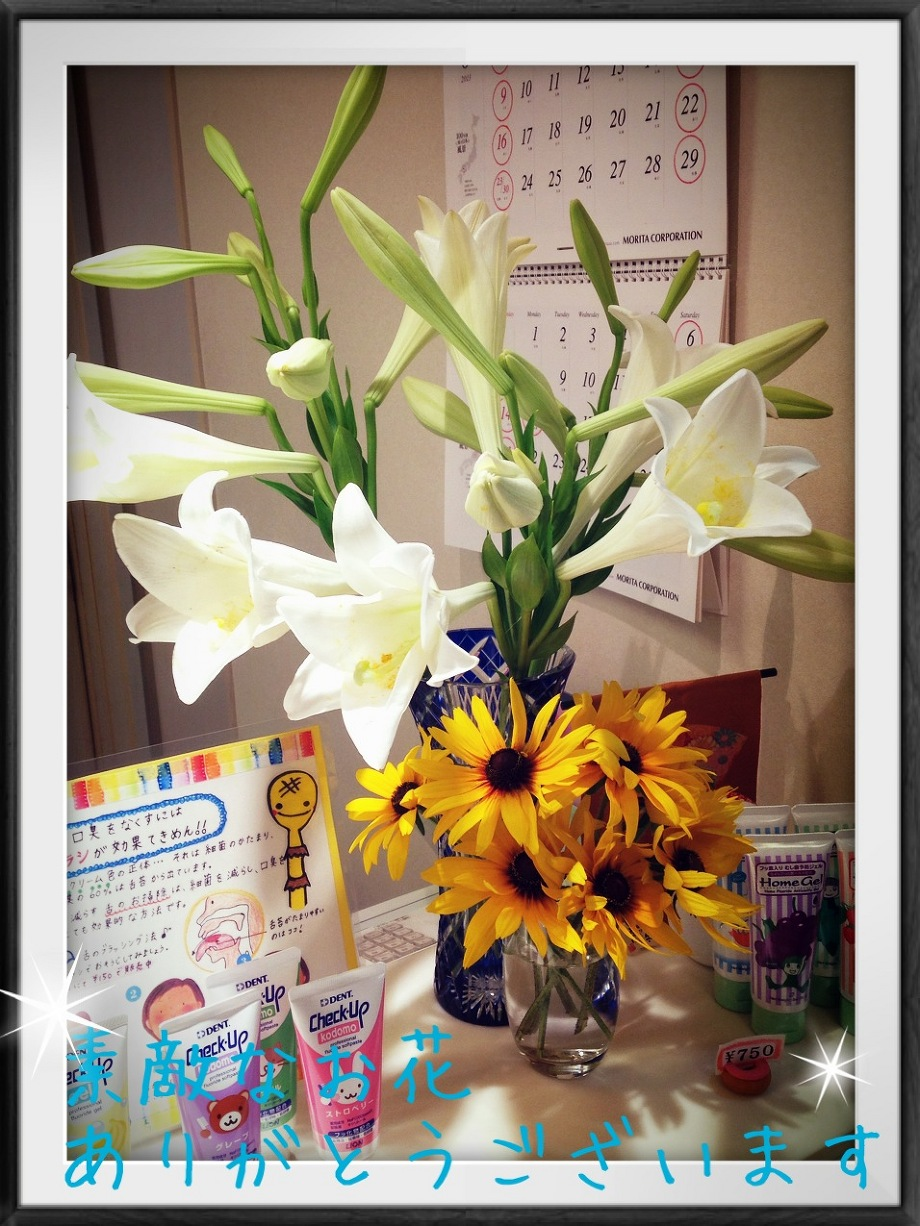 素敵なお花をいただきました!